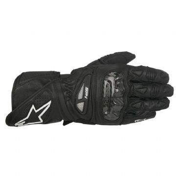 Alpinestars SP-1 Leather Motorcycle Motorbike Sports Gloves Black RRP £129.99